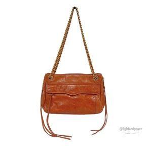 Rebecca Minkoff Orange Leather Crossbody Bag EUC
